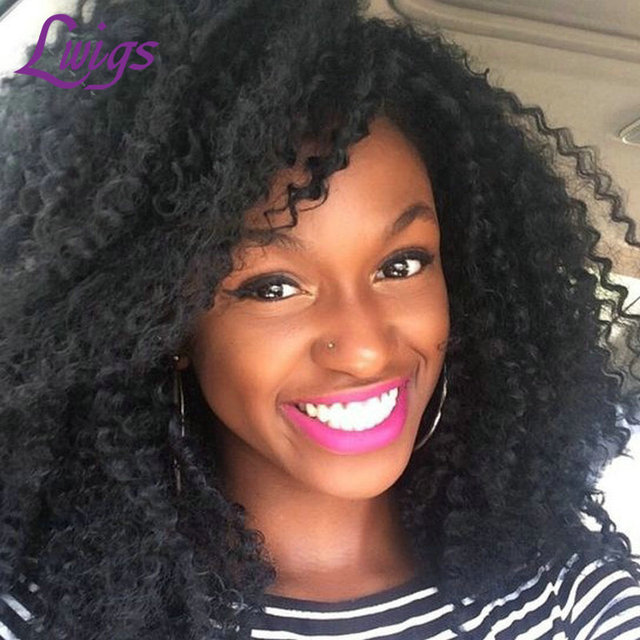 Curly Clip In Human Hair Extensions Brazilian Virgin Kinky Curly