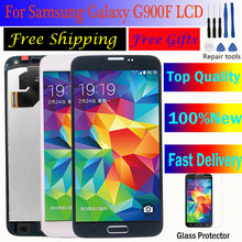 Digitizer Home Button for galaxy s5 lcd display G900F lcd For SAMSUNG Galaxy S5 LCD G900F G900M G900A G900T Display Touch Screen цена