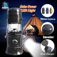 Boutique Digitale Multifunktions Solar Wiederaufladbare Led-taschenlampe Power Lampe mit Vibration Membran Bluetooth Lautsprecher Nov12