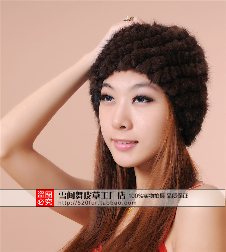 Image 5 - Woman Plus Size Winter Stripe Stretch Mink Fur Bomber Hats Lady Solid Stretch Mink Fur Protective Ear Warm Bomber Hat-in Men's Bomber Hats from Apparel Accessories