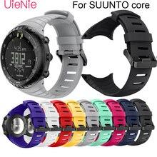 For SUUNTO core Frontier/classic soft silicone bracelet Replacement strap For SUUNTO core smart watch Wristband accessories suunto core yellow crush