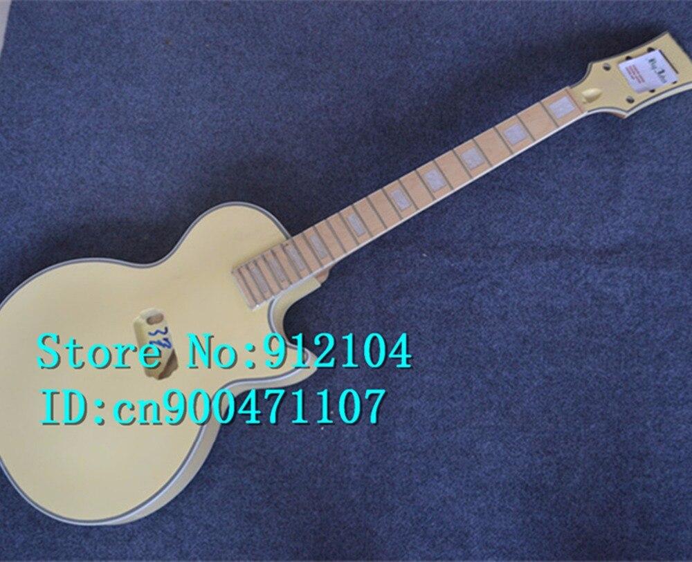 Livraison gratuite nouvelle guitare électrique en jaune sans matériel bricolage guitare + boîte en mousse + F-3017