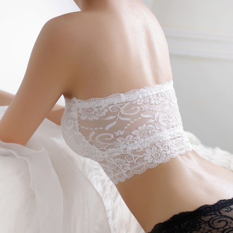 Lace Wrapped Chest Prevent Exposure Tube Top Lace Girl's Lingerie Women's Intimates