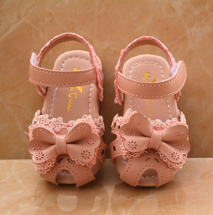4508551ca Toddler Infant Kids Baby Girls Elegant Bowknot Flower Princess Shoes  Sandals baby sandals kids sandal for