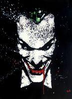 100%Handmade Joker Batman Oil Painting 24x36 NOT print or poster