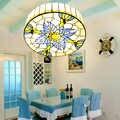 Européen rond plafonniers salon chambre rétro américain balcon chambre villa led plafonnier enfants lampe de chambre DF108
