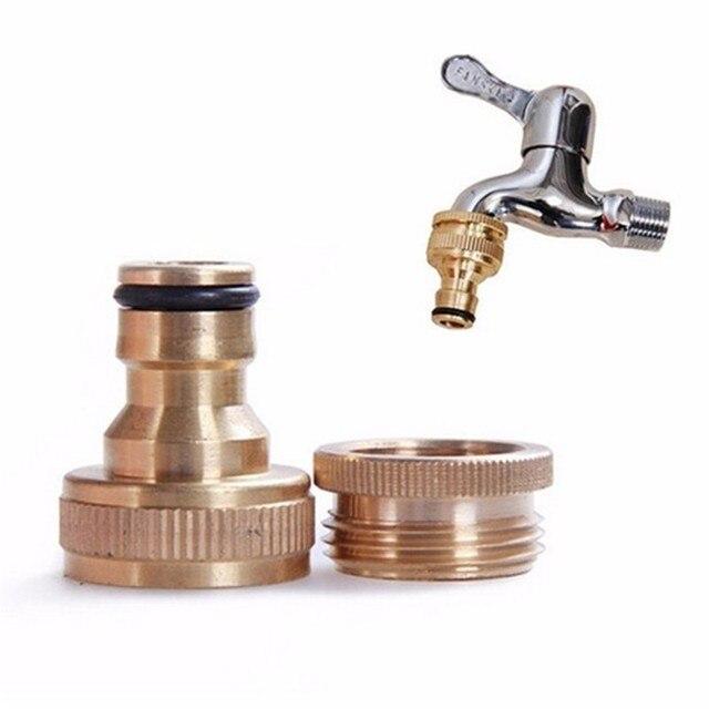 1/2 Or 3/4 Inch Brass Threaded Hose Tap Adaptor Garden Faucet Water ...
