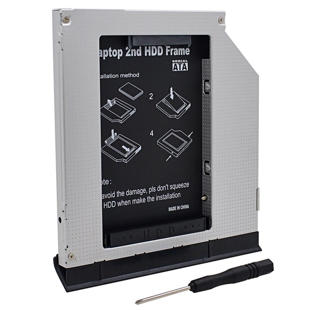 For Dell Latitude E6320 E6420 E6520 E6330 E6430 E6530 Optibay Aluminum 2nd HDD Caddy 9.5mm SATA 3.0 2.5