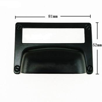 Wholesale Black Alloy Kitchen Drawer Cabinet Door Handle Furniture Knobs Cupboard Antique Shell Label Pull Handles,Card Holder