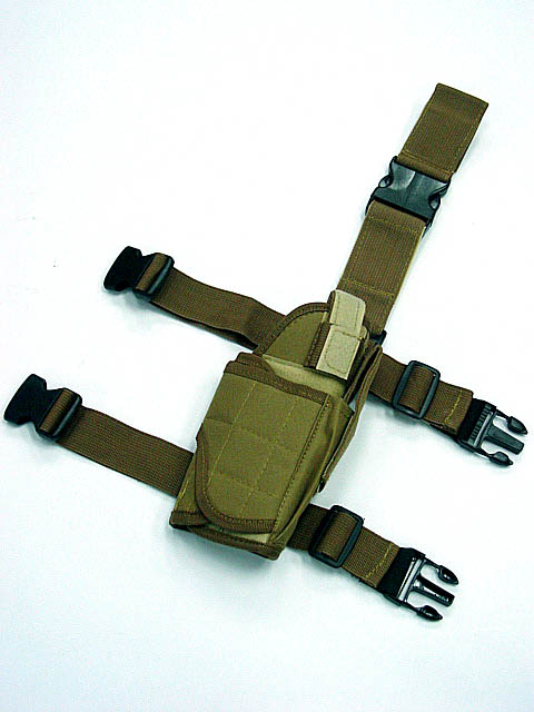 US sports gun holster Tactical Drop Leg Thigh Pistol Holster Coyote Brown