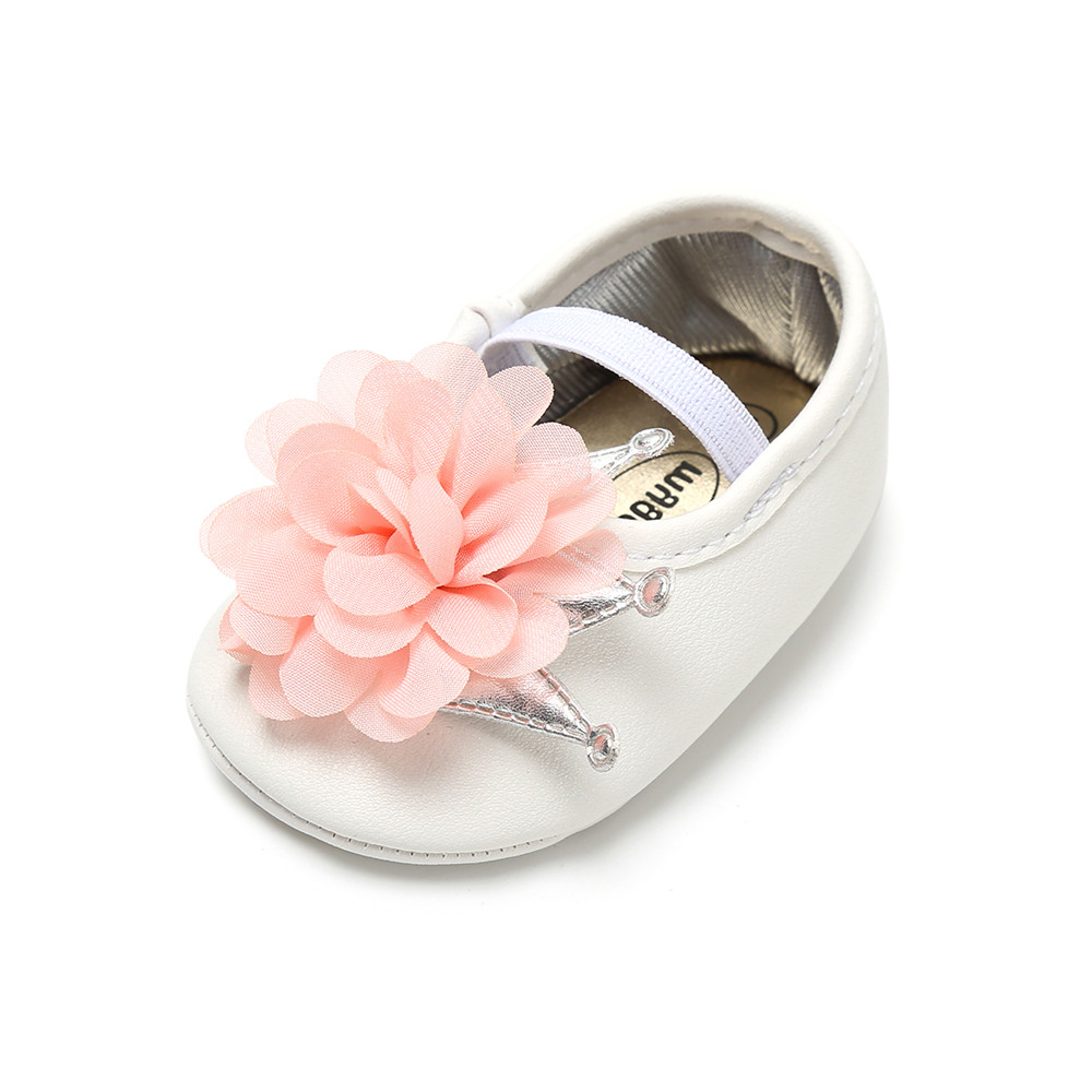 Fashion Camellia Flower Toddlers Shoes Prewalkers PU Leather Princess For Baby Girl Elastic Band First Walkers Wholesale