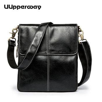 2019 Black Messenger Bag Fashion Thread Design Men's Shoulder Leather bags Male Flap Crossbody bags for Men Soft PU Business Bag