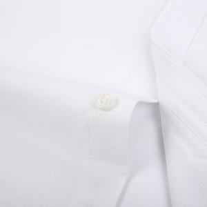 Image 5 - الرجال طويلة الأكمام منقوشة مخطط أكسفورد قمصان واحدة التصحيح جيب قسط الجودة القياسية صالح زر أسفل القطن قميص غير رسمي