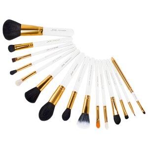 Image 5 - Jessup кисти, 15 шт., кисти для макияжа, пудра, основа для макияжа, набор кистей для макияжа, тени для век, подводка для глаз, инструмент для губ, белый/золотой, косметика, красота