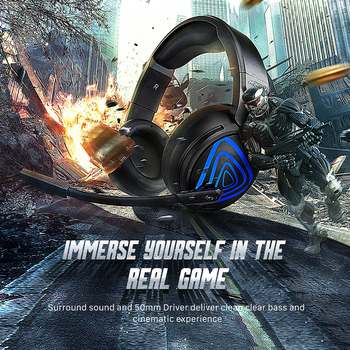 Mpow EG8 Gaming Headset 3.5mm Wired Control Over-Ear Headphone With Noise Cancelling Microphone 50mm Driver For Laptop/Desktop
