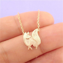 shunyun Unique Cute Fox Pendant Necklaces for Women Animal Fox With Chain Statement Necklace Party Gifts Jewelry Bijoux