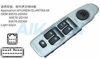 Frente esquerda elétrica mestre interruptor da janela de energia controle 93570 2d000 93570 2d100 para hyundai elantra 2001 2002 2003 2004 2005 2006 Chaves do carro e relé     -