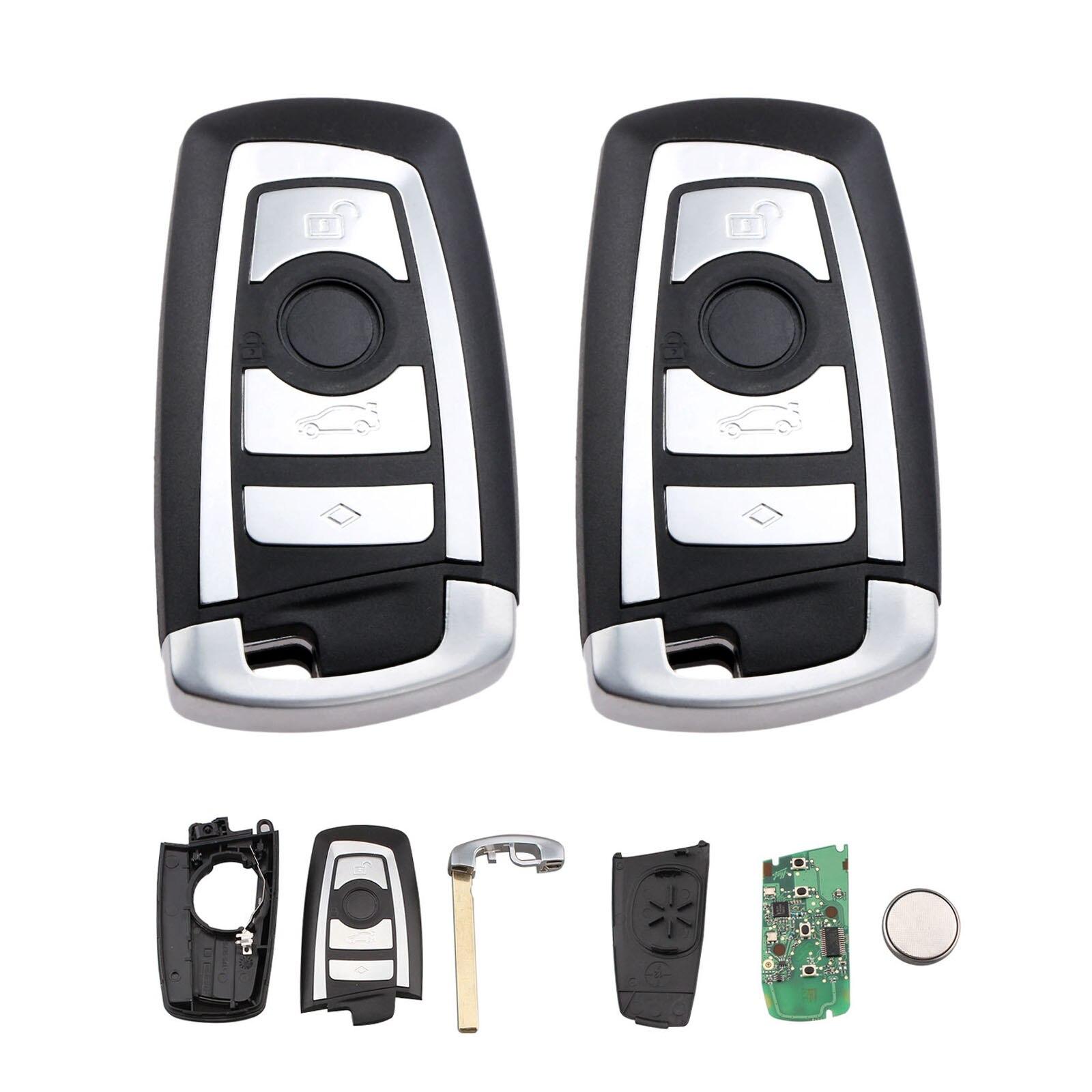 Yetaha 2 pièces De Voiture À Distance Clé 315 MHz ID44 Puce Pour BMW 1 3 5 7 Série CAS4 CAS4 + 4 Boutons Sans Clé Transpondeur Porte-clés