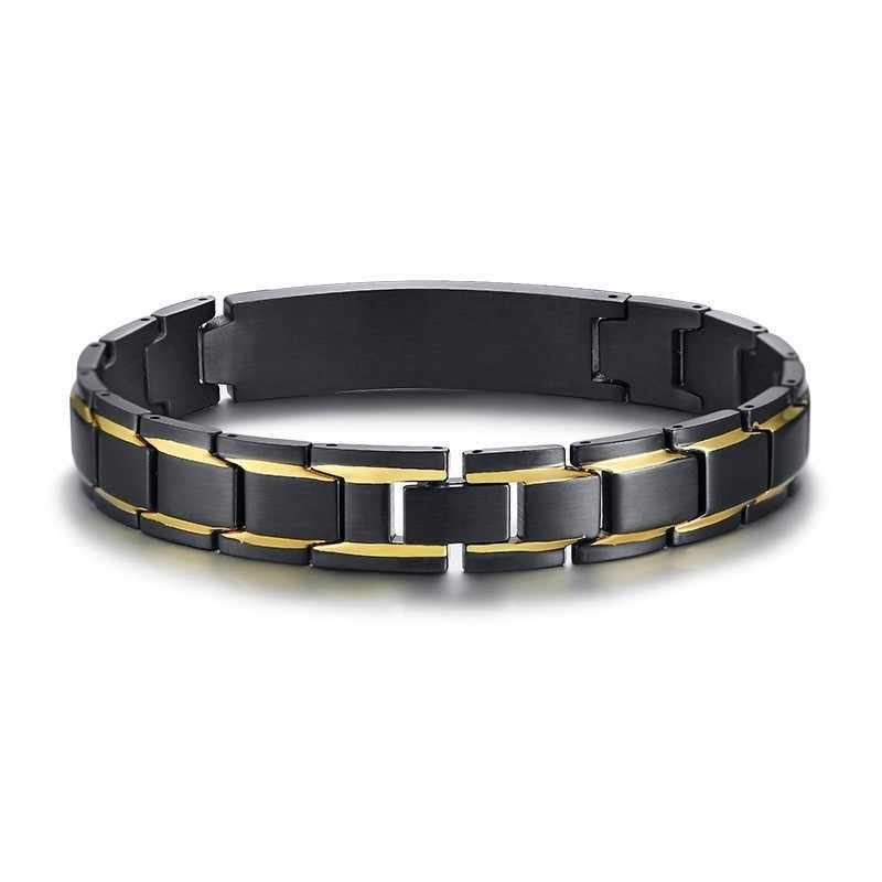 Spersonalizowana bransoleta ze stali nierdzewnej ID firmy zegarków męska bransoletka w kolorze czarnym biały alarm medyczny Disabeat darmowe grawerowanie