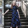 SP 2017 New Fashion Women Short Sleeve Lace Patchwork Mesh Floral Cutout Sexy Casual Dress