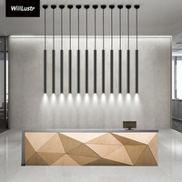 Modern LED pendant lamp aluminum suspension lighting hanging cylinder lamps black white tube light pipe minimalist luxury lights