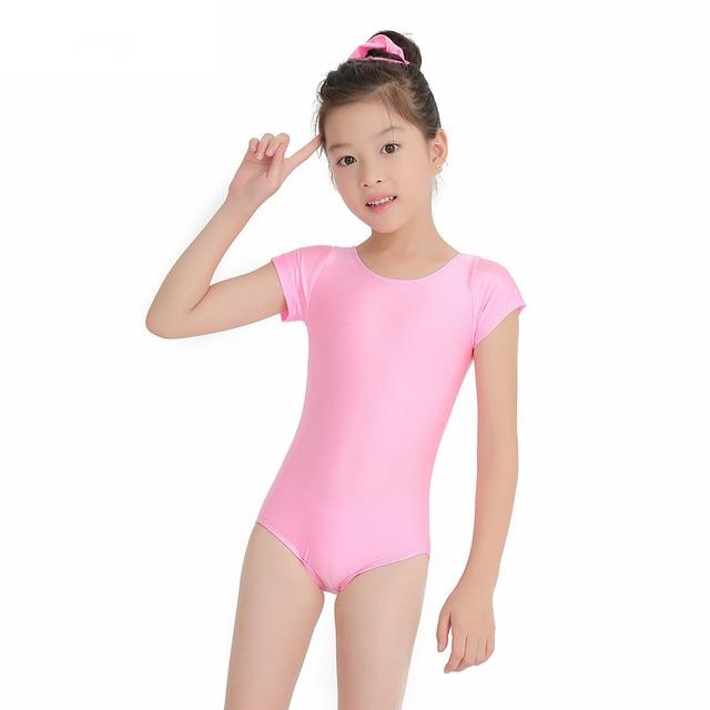 Speerise Girls Short Sleeve Dance Leotard For Gymnastics Child Stretchy Lycra  Scoop Neck Pink Ballet Leotards Working Out Wear ff4505d2c