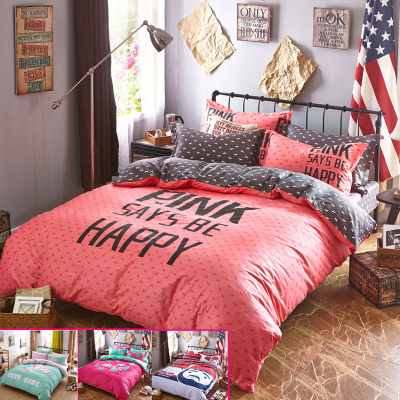 Good quailty Teen bedding set/bed sets Cotton teen bed covers/bed linen Bed  ...