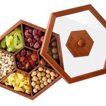 Креативная деревянная коробка для хранения конфет, сушеных фруктов, органайзер, многофункциональная тарелка с дыней, домашняя посуда LFB489