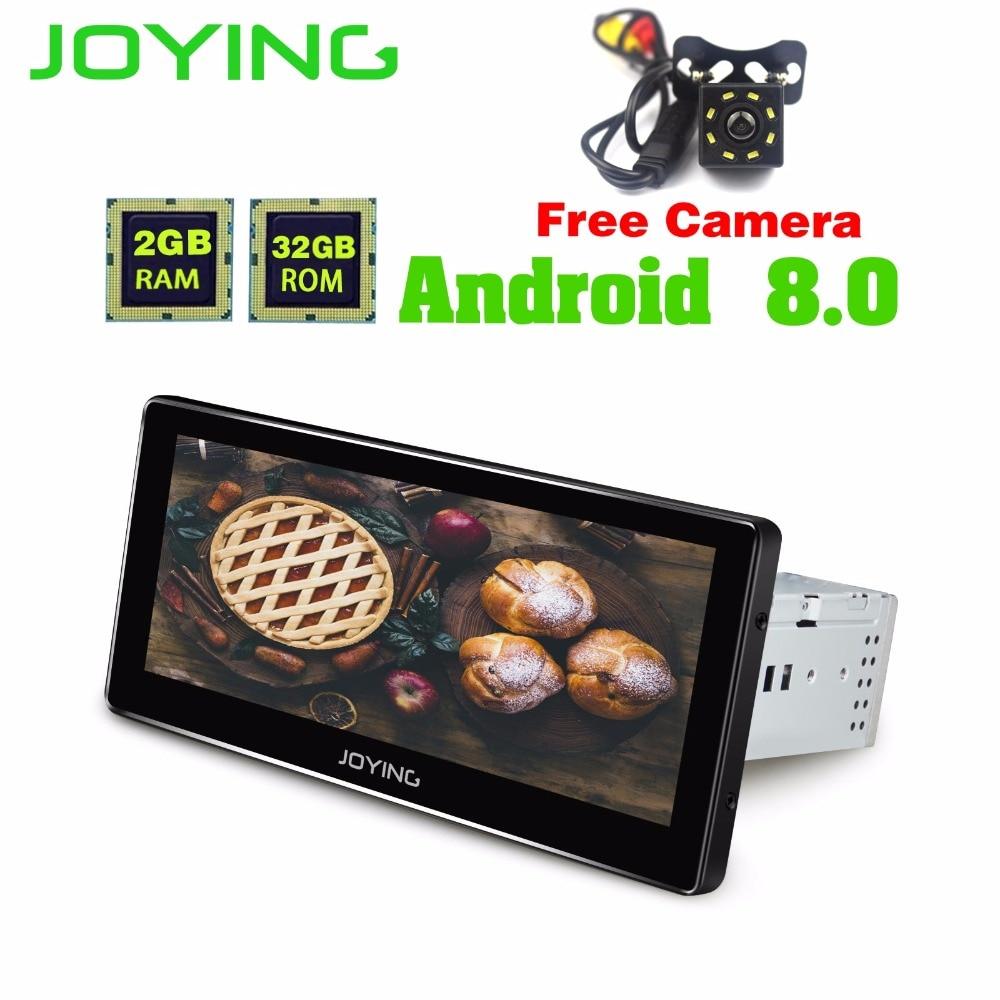 JOYING Android 8.0 8.8 single din car radio player GPS Navigation wifi Bluetooth car multimedia stereo universal FREE CAMERA