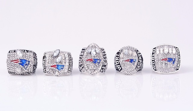 Factory Direct Sale New Arrival Drop Shipping For 2001/2003/2004/2014/2016 New England Patriots Championship Rings