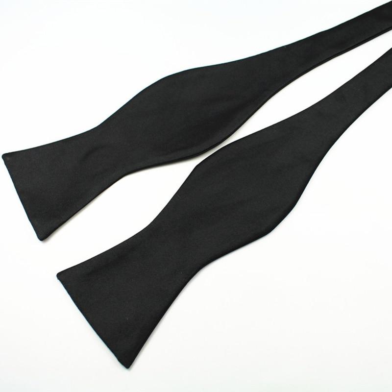 RBOCOTT Dasi kupu-kupu Diri Dasi pria Mode Warna Solid Bowtie - Aksesori pakaian - Foto 3