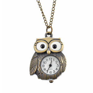 FUNIQUE Pocket Watches Necklace Chain Women Mens Clock