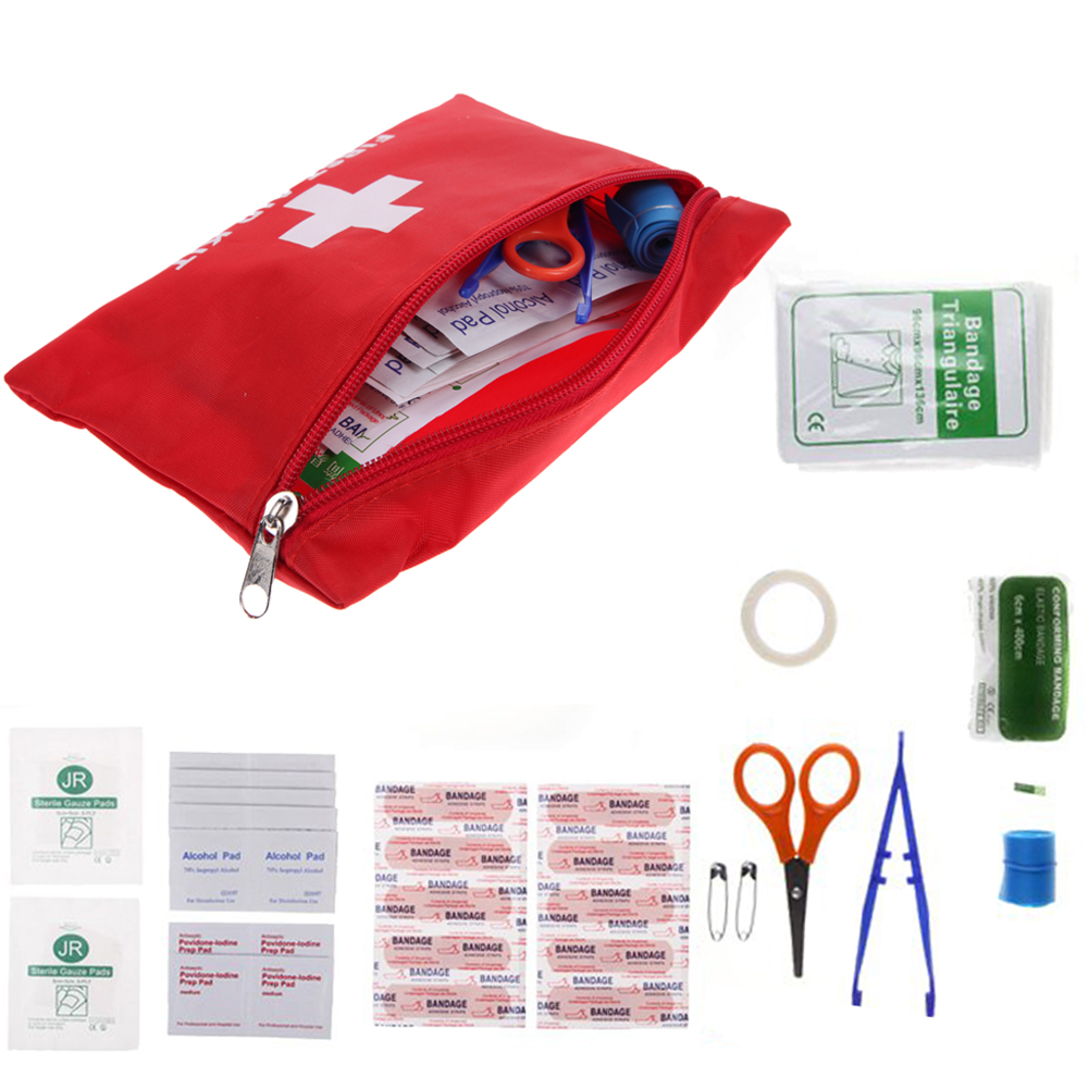 12 Kinds Pack Emergency Kits First Aid Kit Pouch Bag Travel Sport Rescue Medical Treatment Outdoor
