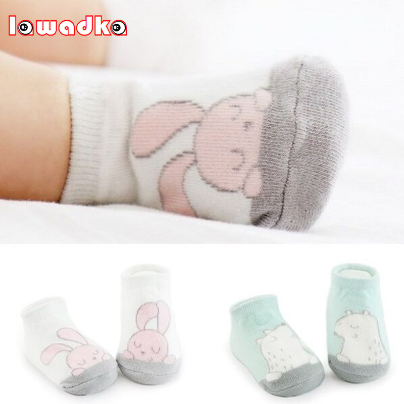 Cartoon Unisex Newborn Anti Slip  Baby Girls/ Boys Cotton Toddler Boat Socks Spring Fall Socks