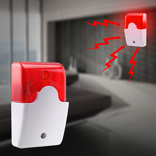 Wired Flashing Light Strobe Siren For 99 Zones PSTN/GSM Wireless home security Alarm System