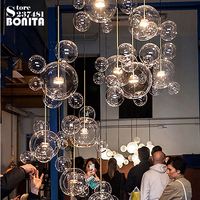 Northern Europe Modern hanging Lamps Italy Design Soap Bubbles Cord Pendant Light Molecular Glass Ball Doplight Loft