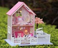 24th DIY Wooden Handcraft Dolls house Miniature DIY Kit LED Light  & All Furnitures with English instruction