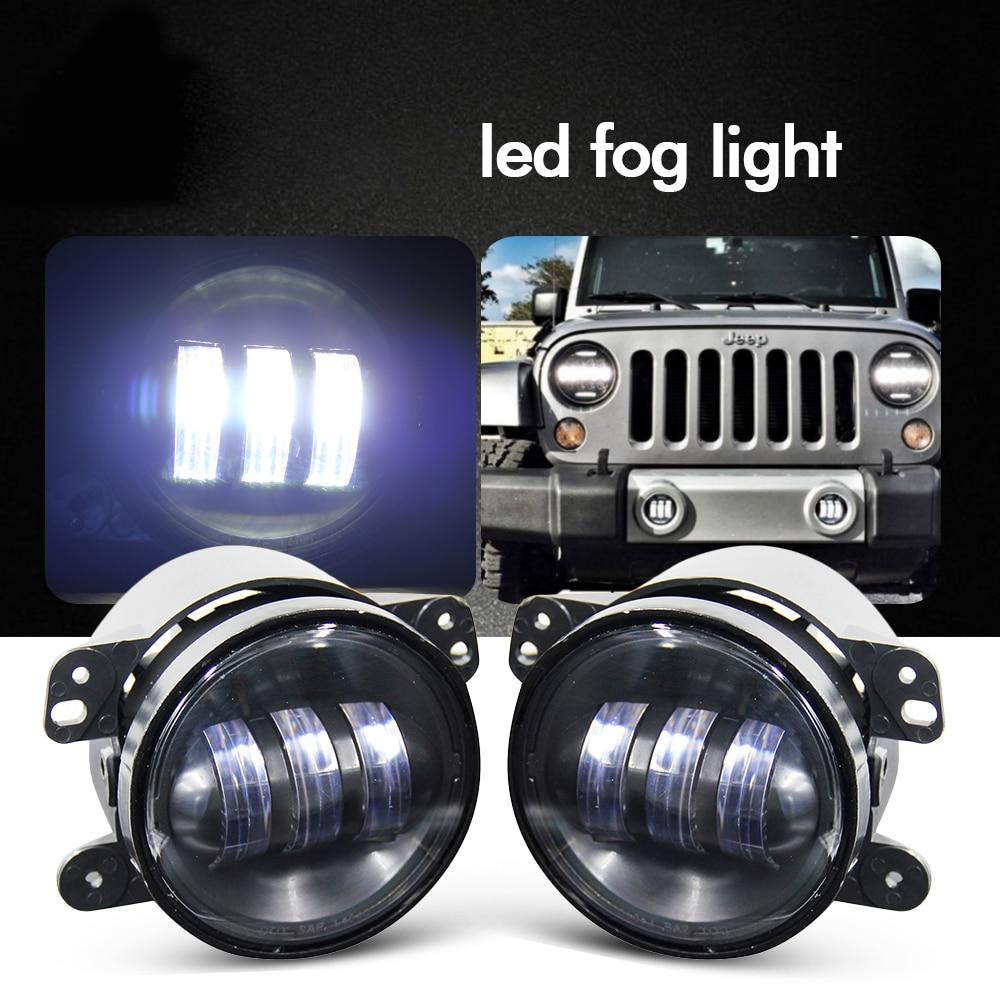 Со свет 2шт 12V 4 дюйма 30W Сид агрегата светильника тумана внедорожного автомобиля света для Wrangler Виллиса Доджа путешествие Крузер Крайслер 300