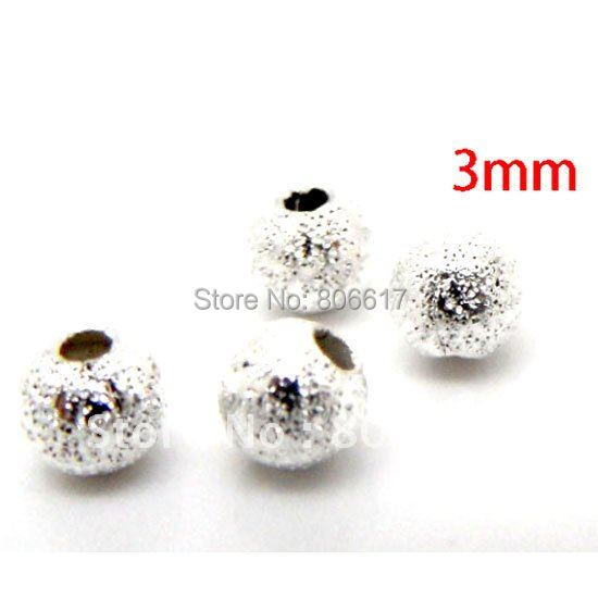 20 X 8MMSILVER PLATED STARDUST SPACER BEADS