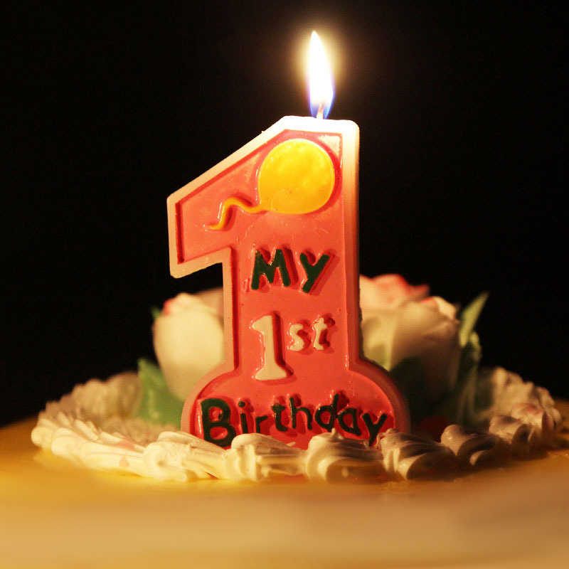 Prime Lucky Pink Giant Large Candle Number 1 Happy Birthday Cake Kids Funny Birthday Cards Online Barepcheapnameinfo
