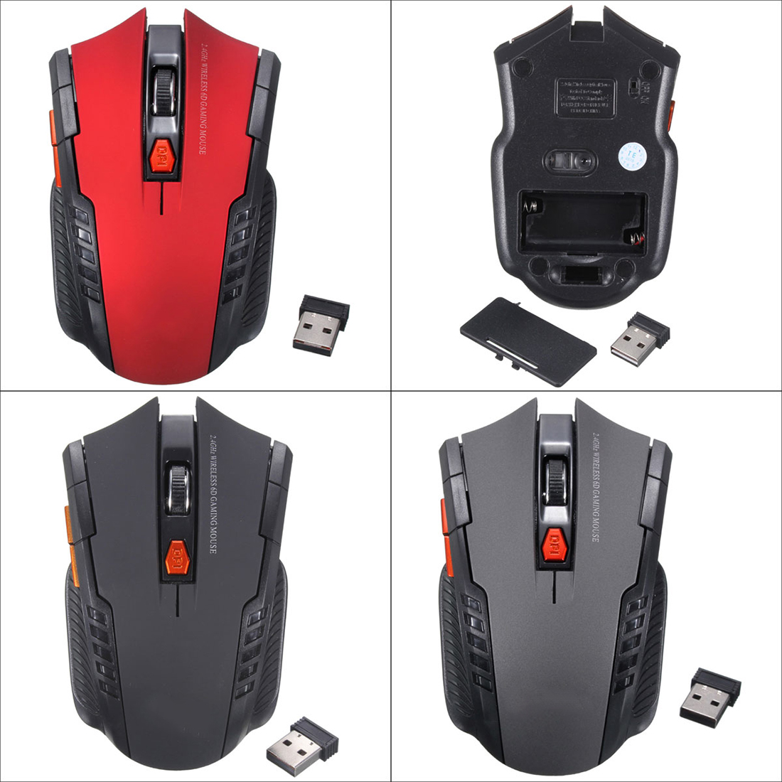 new 2 4ghz mini portable wireless optical 2000dpi adjustable professional gaming game mouse mice. Black Bedroom Furniture Sets. Home Design Ideas
