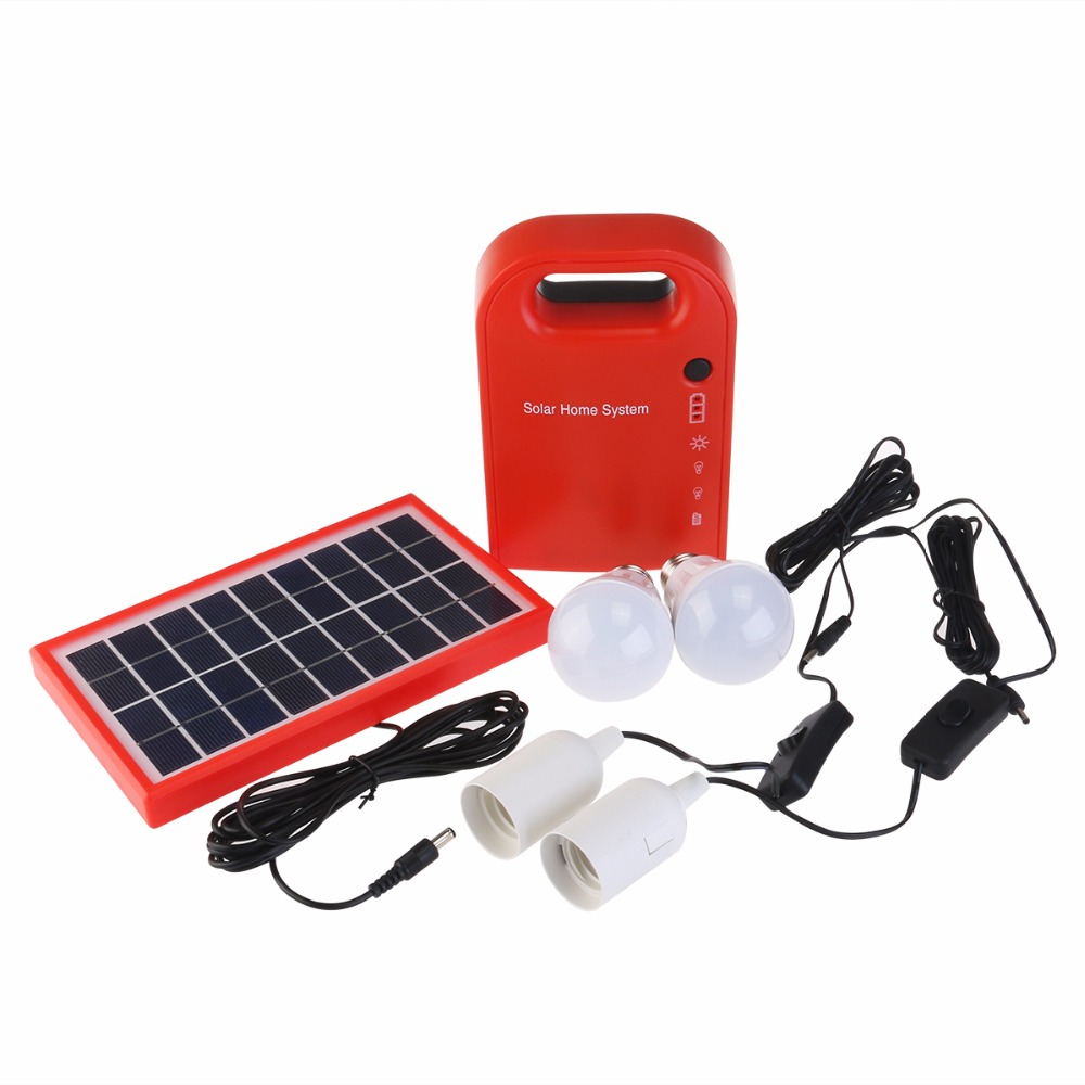 Portable 3W Mini Solar Home System Solar Energy Kit Solar Generator ...