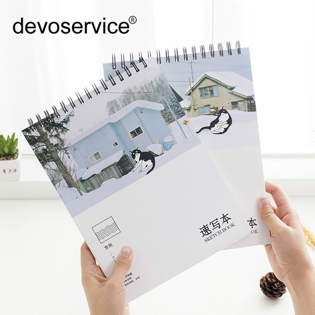 Direction A4 Sketchbook Fresh Art Sketches Kawaii Watercolor Painting Book Student Stationery Gifts School Office Supplies