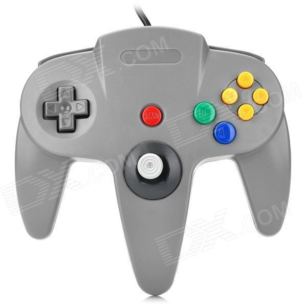 Grey Original Interface Wired Controller Classic Video Game Joypad Joystick For Nintendo N64