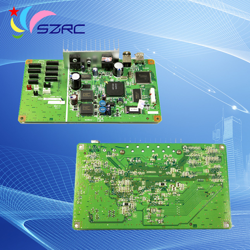 High quality C589MAIN Original teardown mother Board Compatible For Epson R1800 R1900 R2400 Main Board ( 100% Tested )