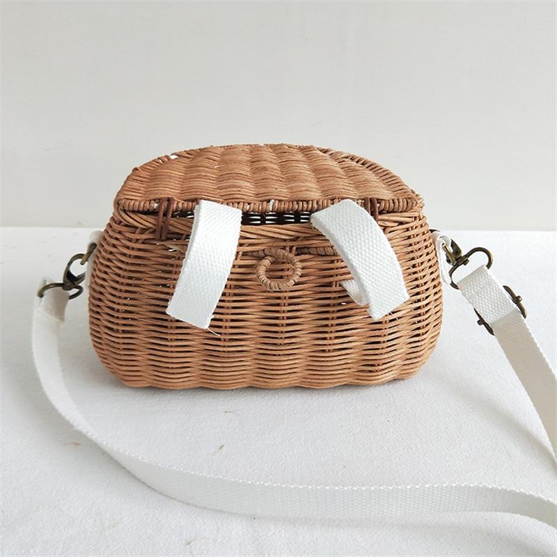 HTB14eZSaL1H3KVjSZFBq6zSMXXaT Small big Back Basket Children Bicycle Basket Handmade Tattan bag Basket kid's backpack