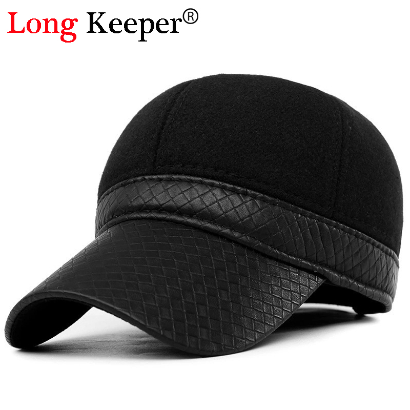 winter classic baseball hat cap with ear flaps mens long keeper font caps