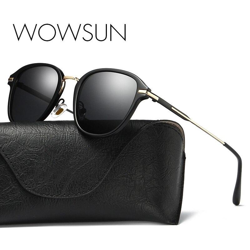 WOWSUN Fashion Female Polarized Sunglasses Women Cat Eye Glases Ladies Sun Glasses Mirror oculos de sol A012