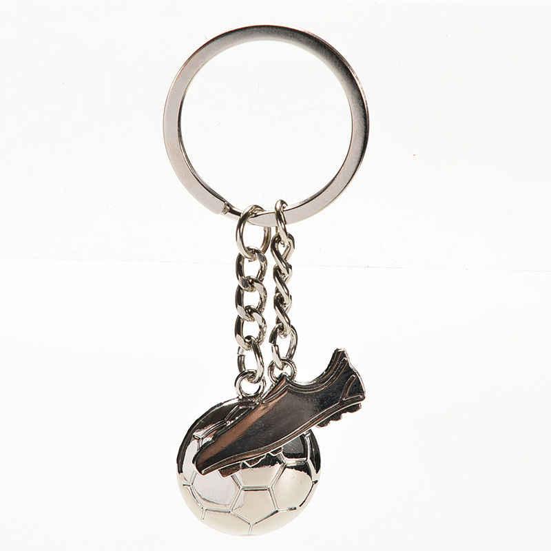 Fútbol fútbol zapatos llaveros regalo nuevo diseño baratijas llavero aleación metal llavero