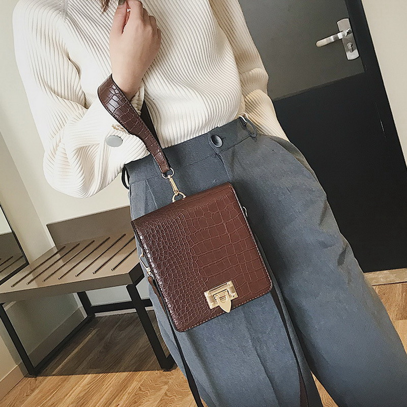DIINOVIVO Fashion Alligator Female Handbags Designer Crossbody Bags for Women Small Square Bag Shoulder Messenger Purse WHDV0917 5